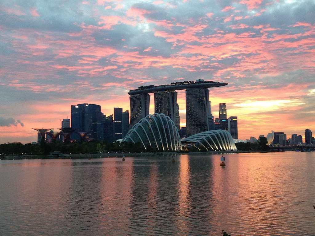 Marina Bay Sans in Singapore at dusk