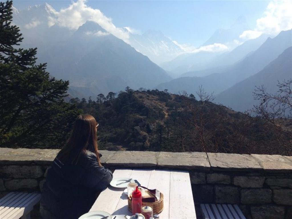 Breakfast at Everest View Hotel