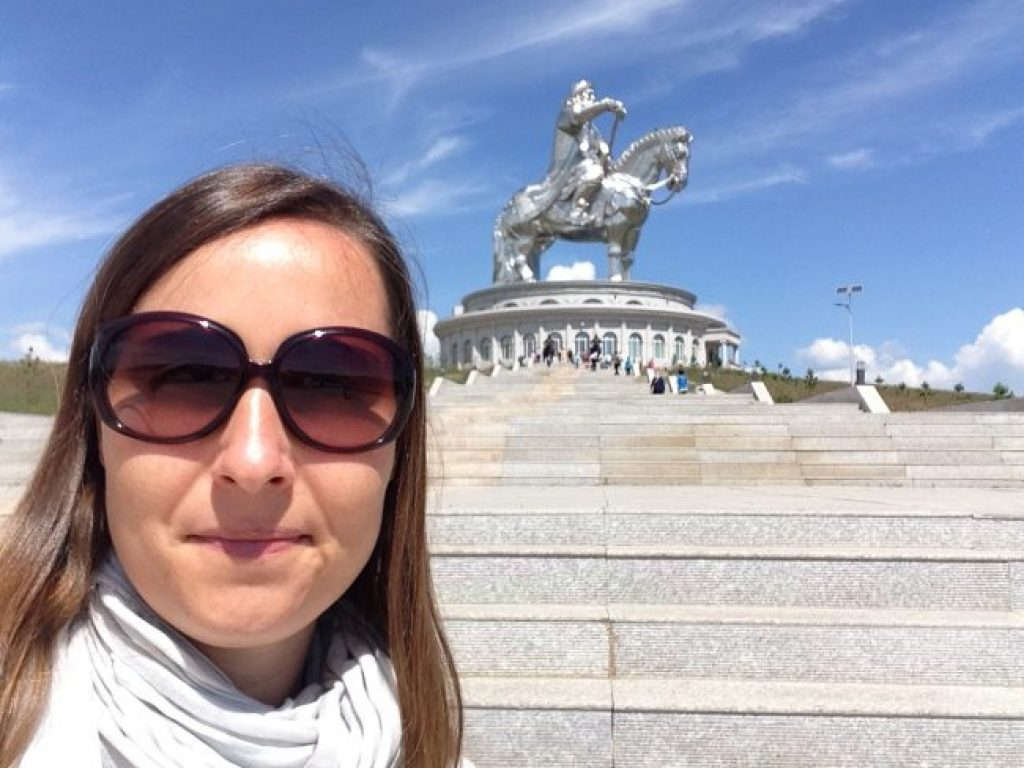 My Selfie with the Genghis Khan Equestrian Statue in Mongolia