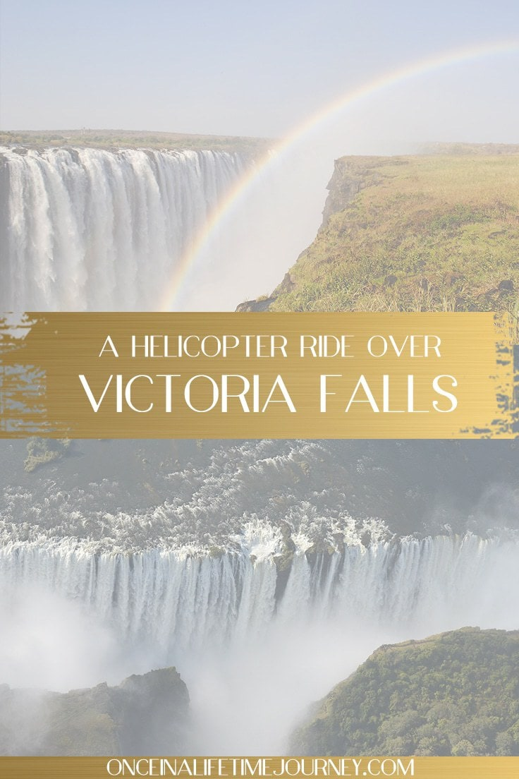 Victoria Falls helicopter ride pin