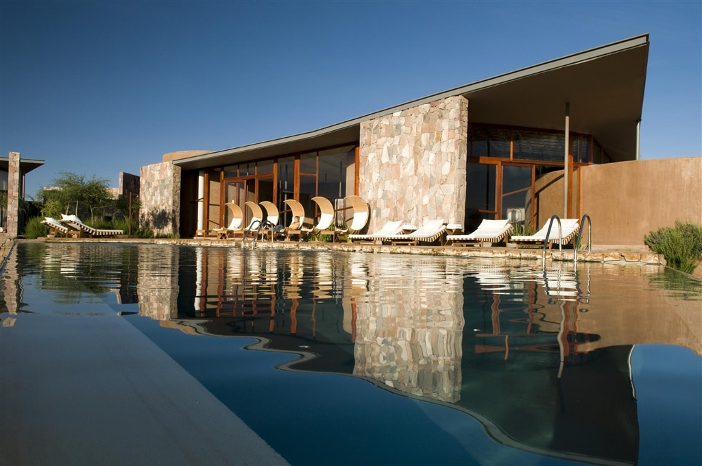 Gorgeous swimming pool at Tierra Atacama