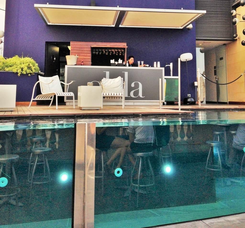 Ohla rooftop terrace pool