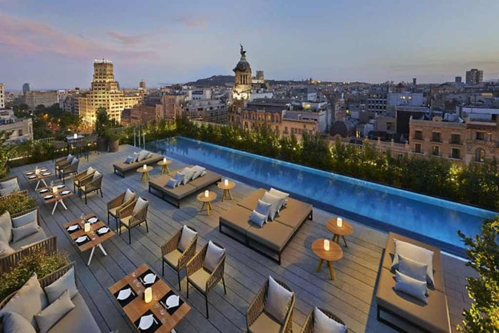 Rooftop terraces in Barcelona