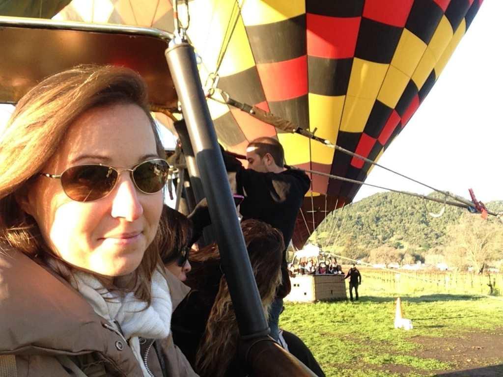 Hot air balloon selfie
