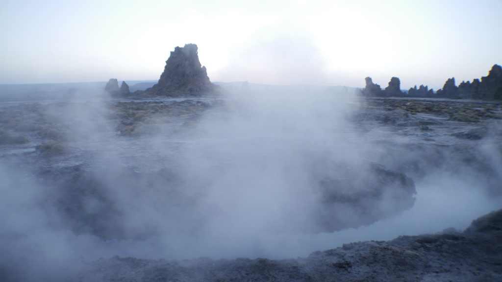 Hot springs of Lake Abbe