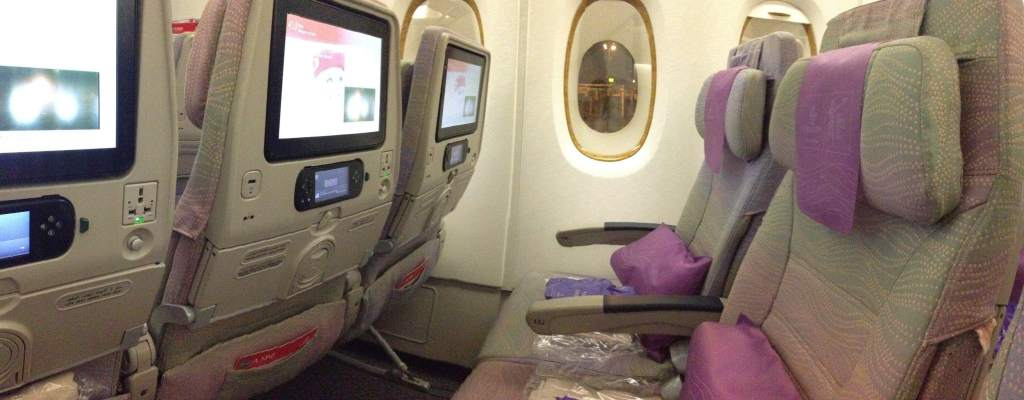 Emirates Airlines Economy Class, Emirates Boeing seats