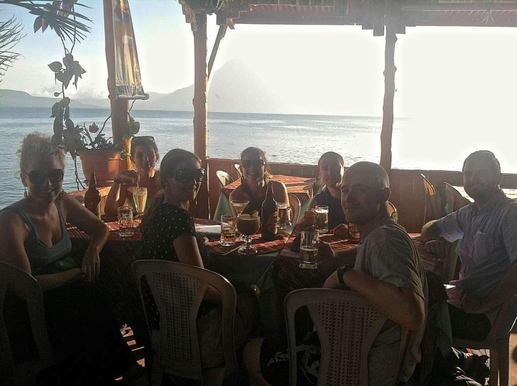 Lindsay and the kind people who helped her in Lake Atitlan