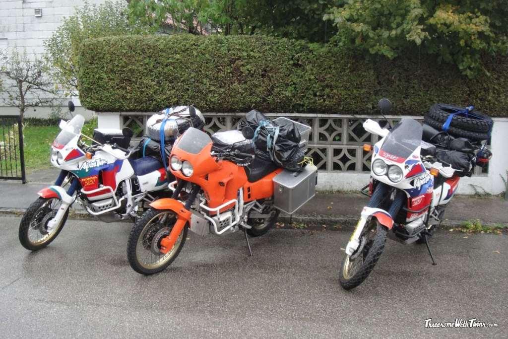 Motorbikes on the road