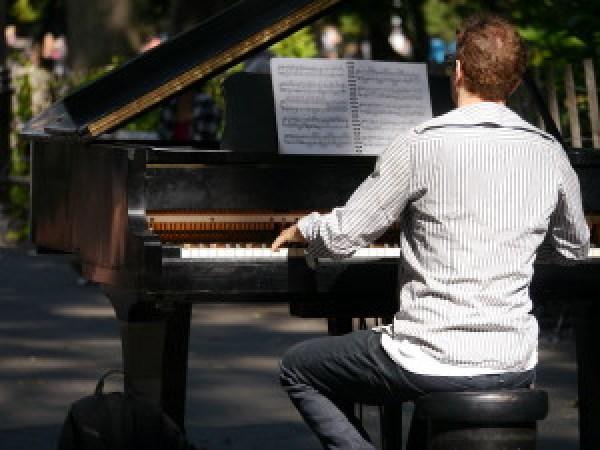 Pianist at Washington Square