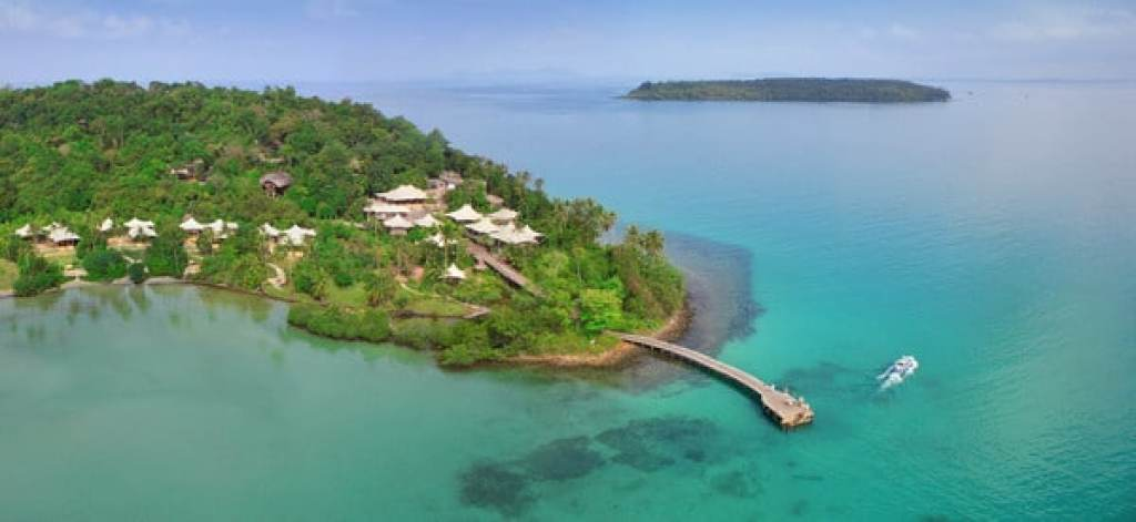 Soneva Kiri from the air