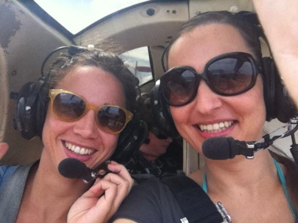 Anna and I in the helicopter