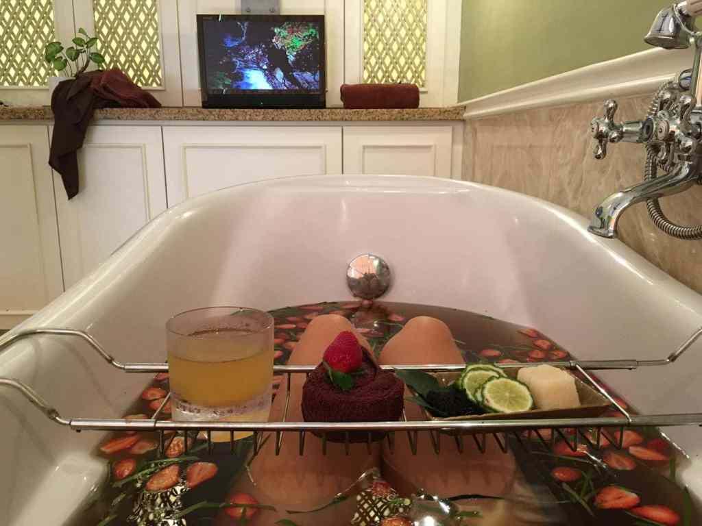 Strawberry bath