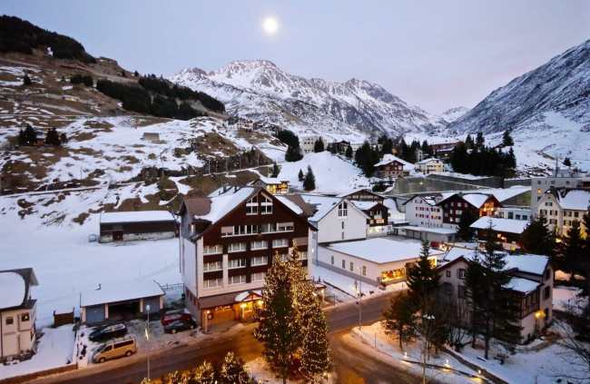 Andermatt at twilight