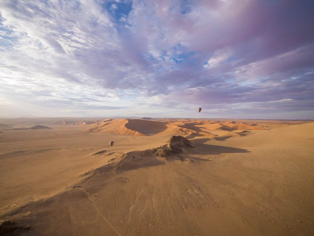 Hot air balloon over Sossusvlei