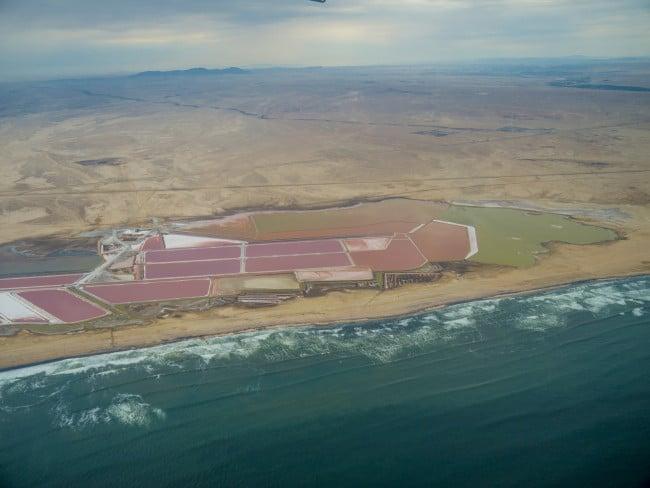 Salt factory of Namibia