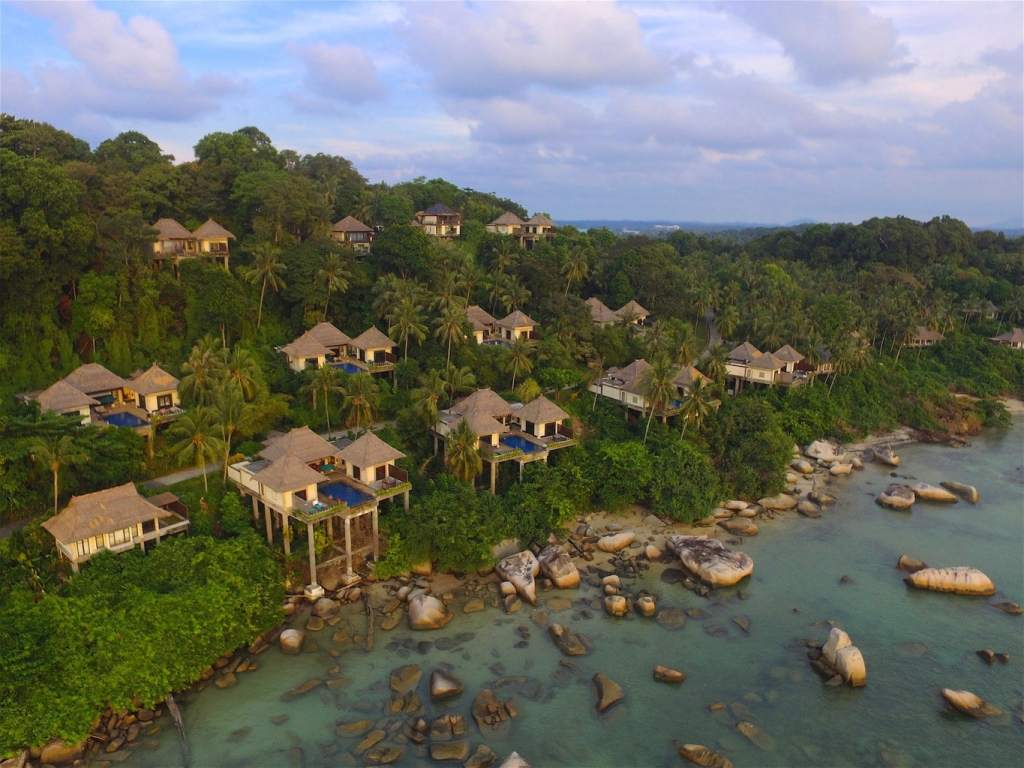 Banyan Tree Bintan Villas at dusk