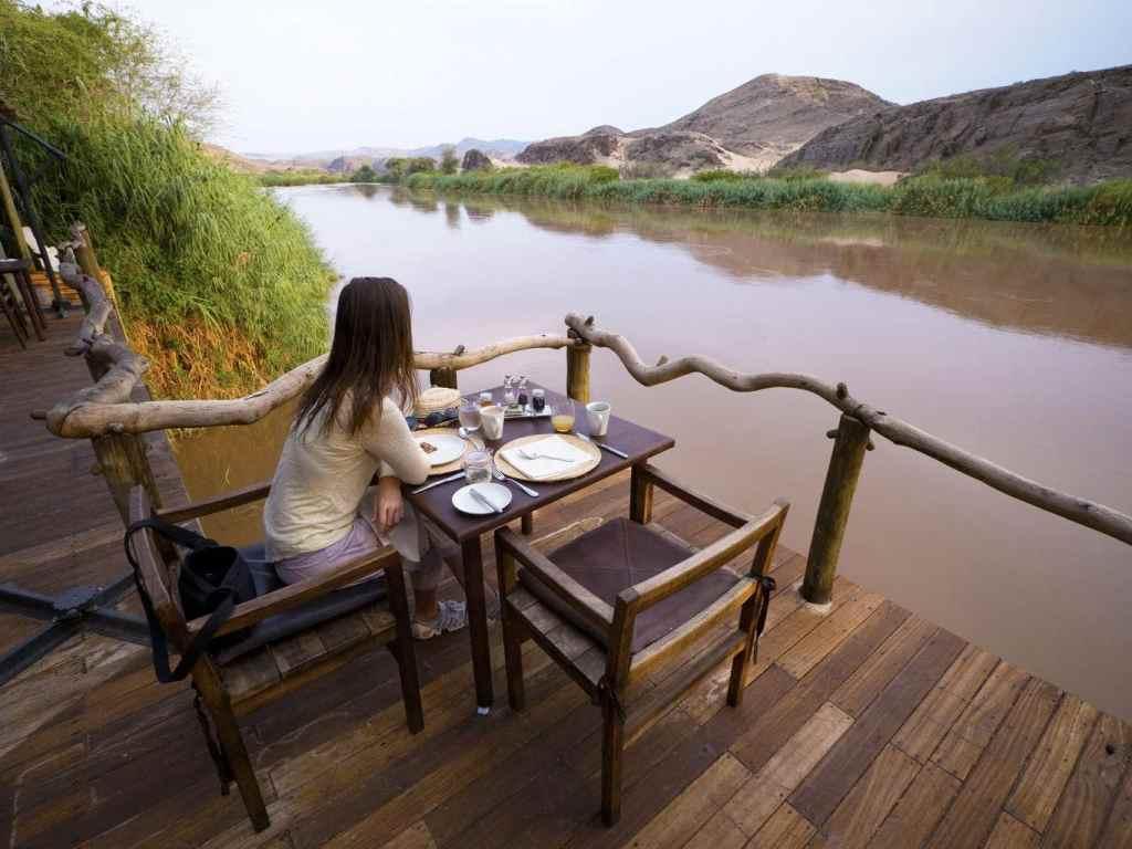 Breakfast verandah at Serra Cafema
