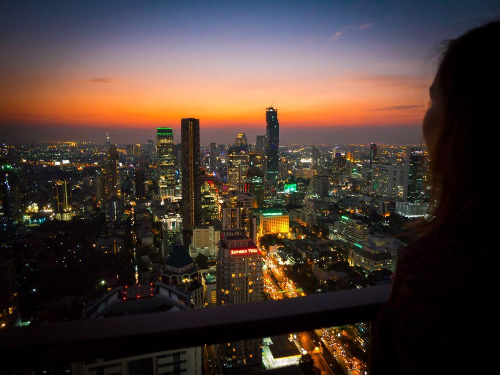 Moon Bar views Bangkok