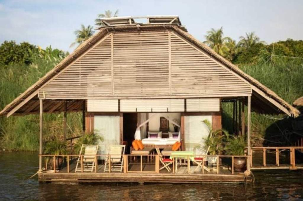 Image of the floating bungalow