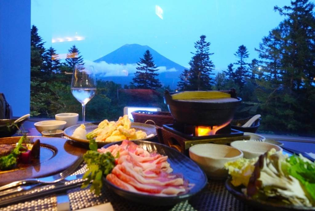 Shabu shabu at the Hilton Niseko