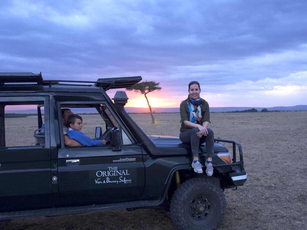 Sundowners at the Maasai Mara