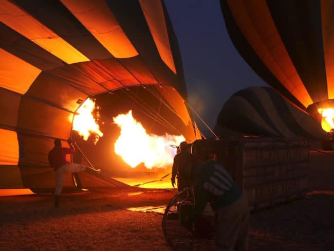 """""""Inflating the hot air balloon"""""""