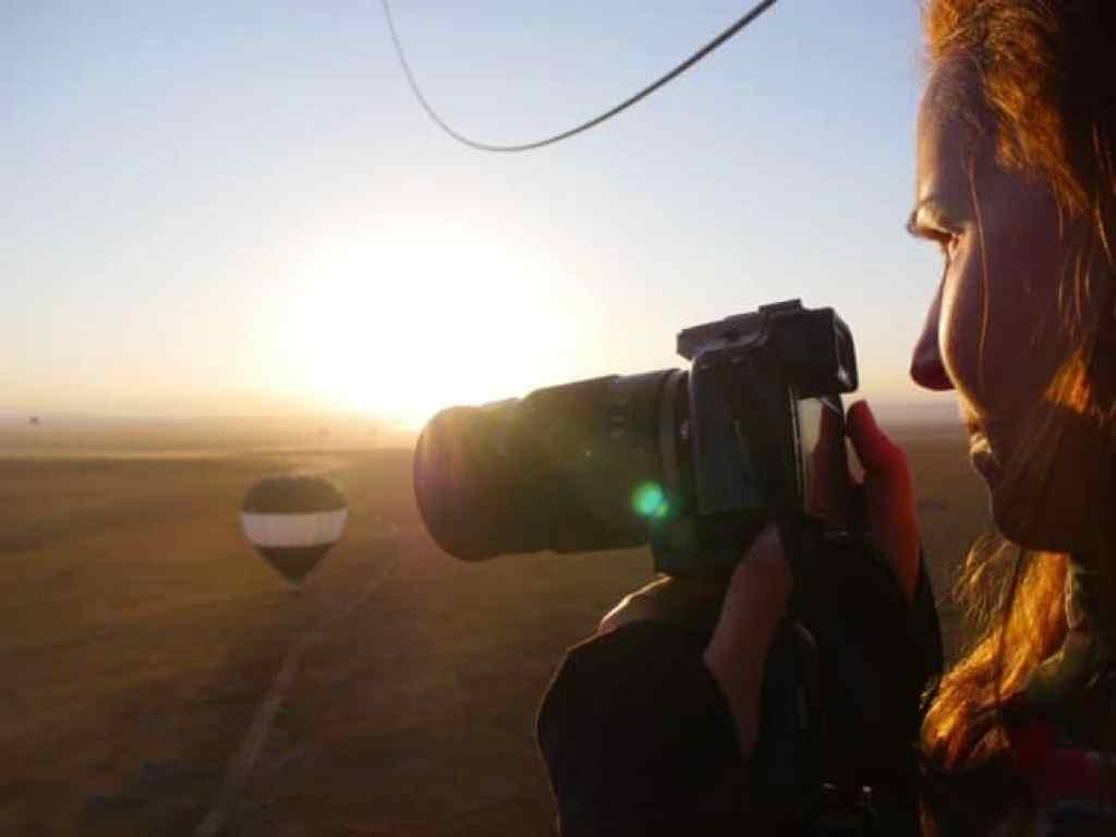 Behind the scenes on a hot air balloon over the Maasai Mara