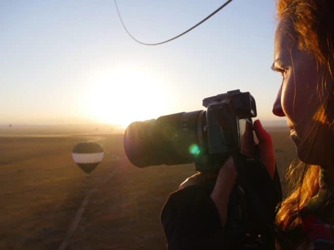 """Behind the scenes on a hot air balloon over the Masai Mara"""