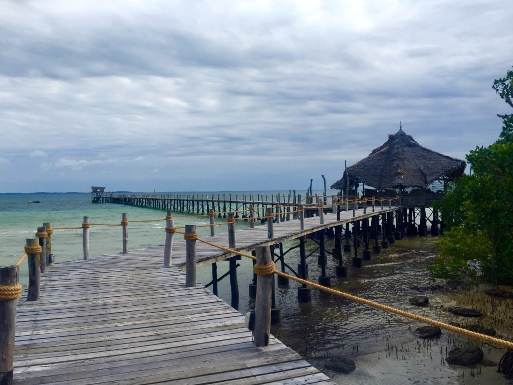 The jetty at Fundu Lagoon in Pemba