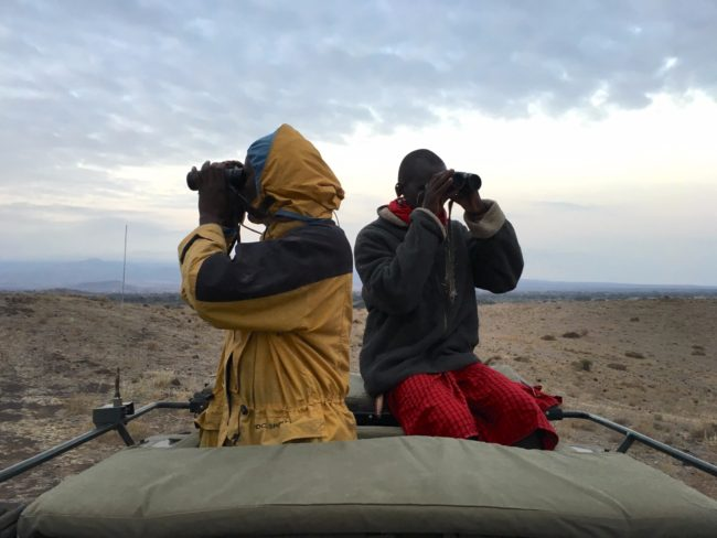 """My two Masai guides in Amboseli"""
