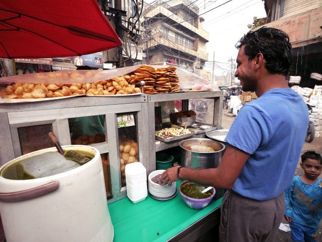 """""""One of many snack street vendors in Amritsar'"""