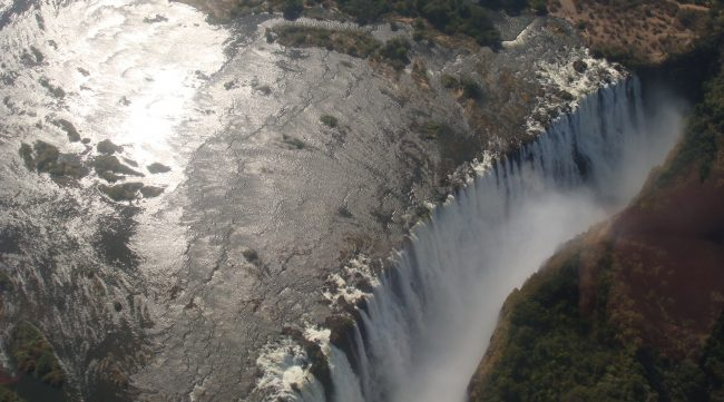 """Victoria Falls from a helicopter"" helicopter rides of a lifetime"