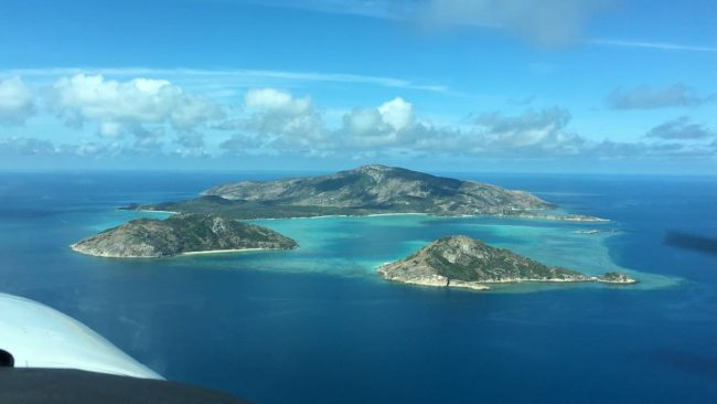 """Lizard Island from above"""