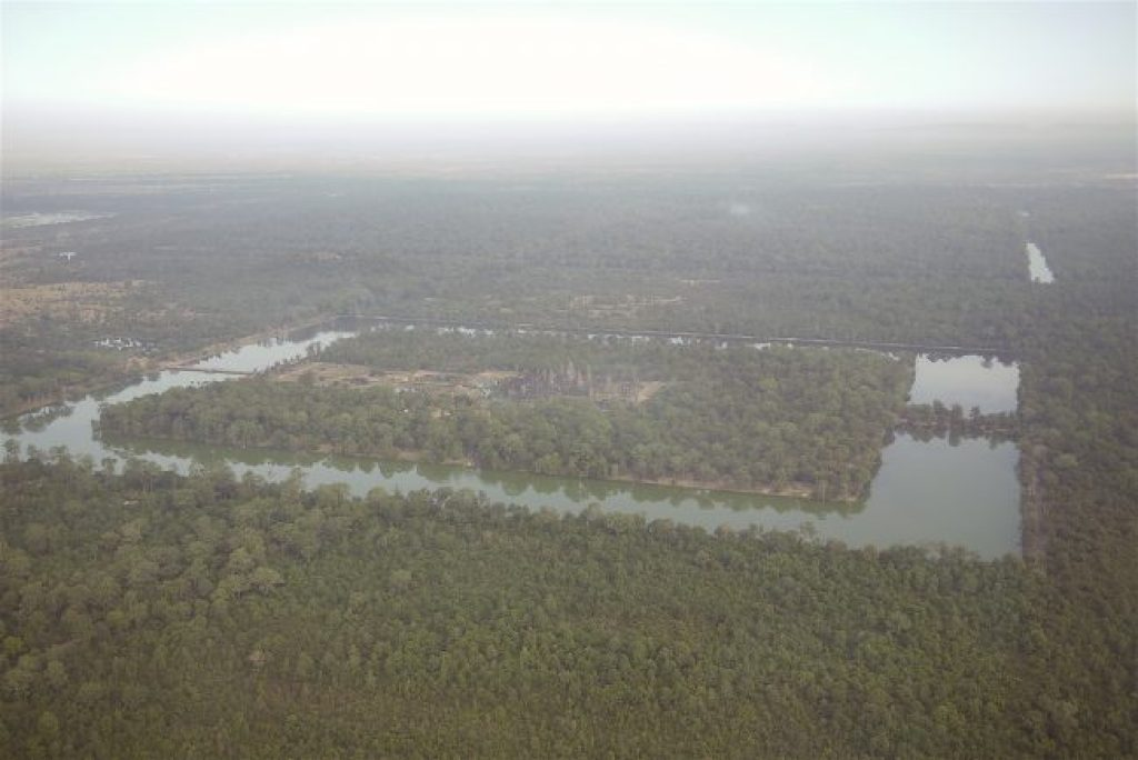 Angkor Wat from an helicopter