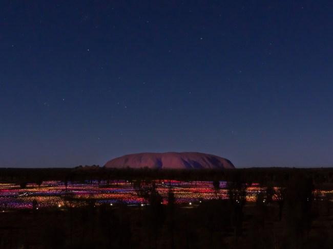 """Filed of Light against Uluru Ayers Rock"""