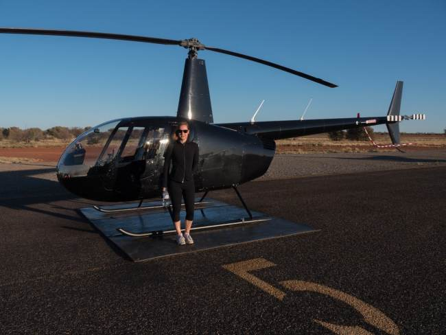 """Helicopter sunrise ride"""