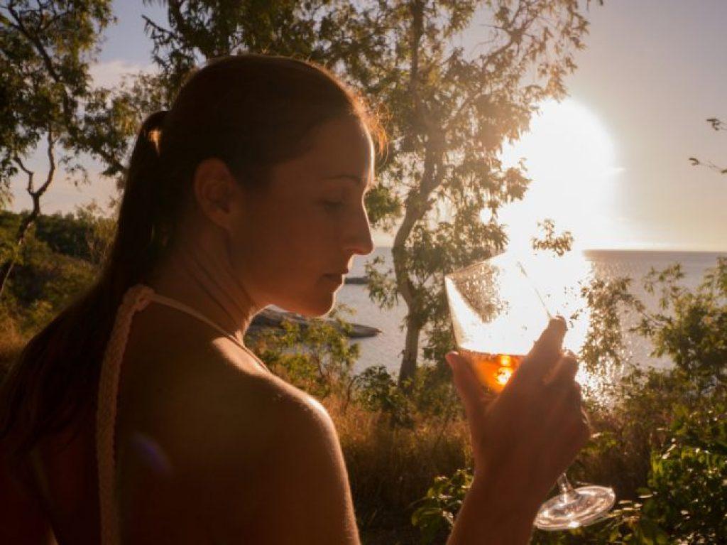 Sunset drinks at Lizard Island Resort