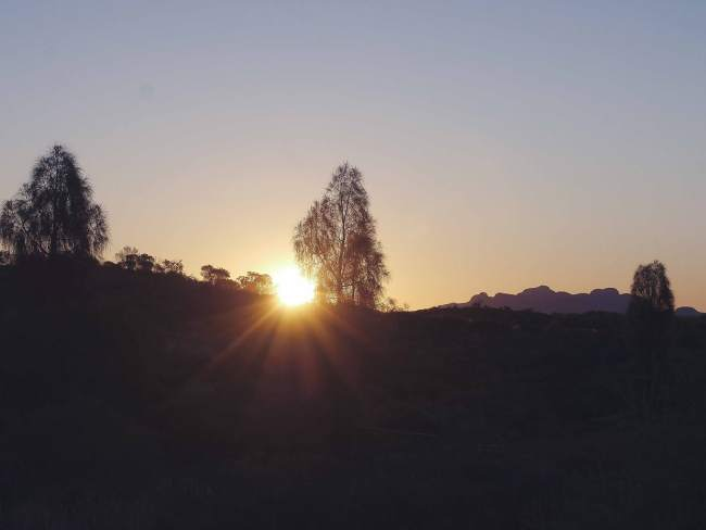 """Sunset over Kata Tjuta"""