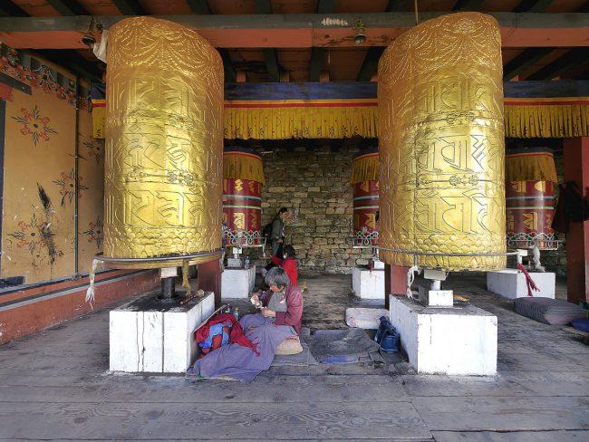 """Prayer wheel at National Memorial Chorten in Thimphu'"