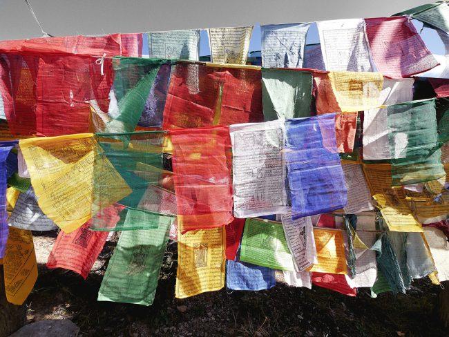 """Prayer flags in Bhutan'"