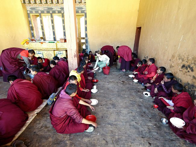 """""""Serving lunch to the monks in Gangtey'"""