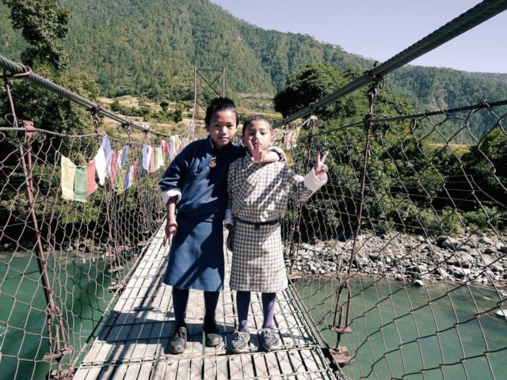 Longest suspension bridge in Bhutan
