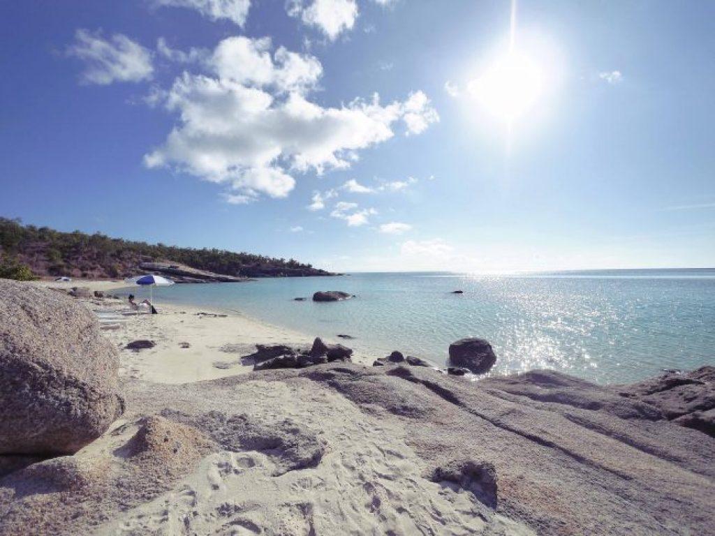 Sunset beach on Lizard Island Resort