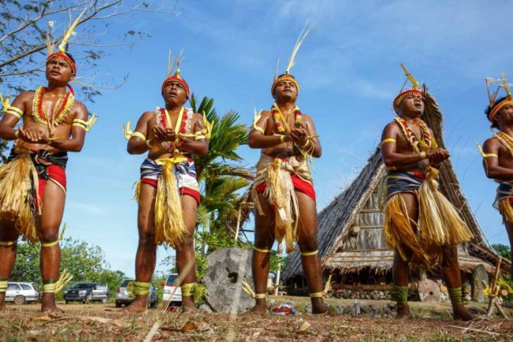 Traditional dancers in Yap