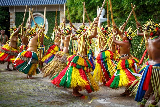 """Traditional dancers in Yap'"