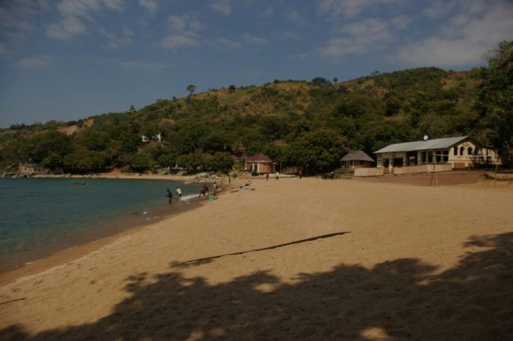 One of the white sand beaches on Lake Malawi - Chikale Beach, Nkhata Bay