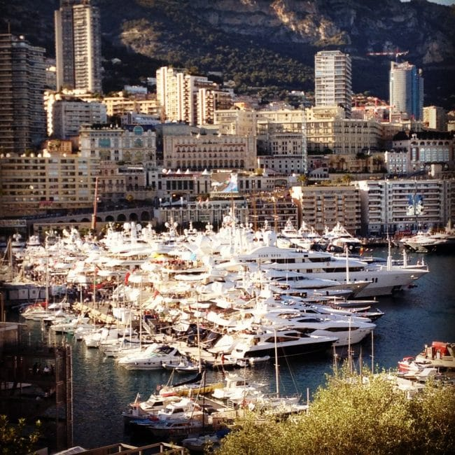 Luxury yachts docked at Monaco's Port