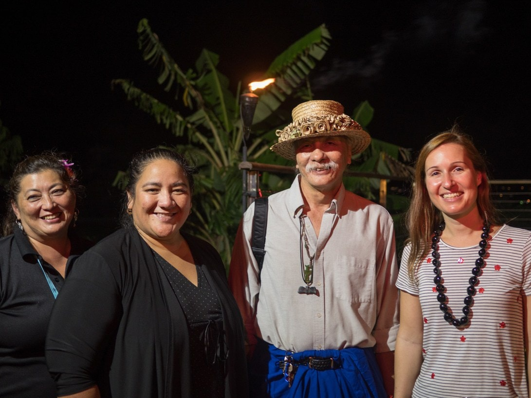 With Chamorro dance master