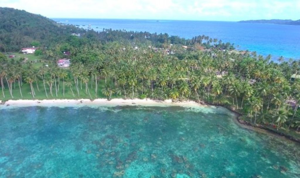 Blue Lagoon Resort Chuuk aerial
