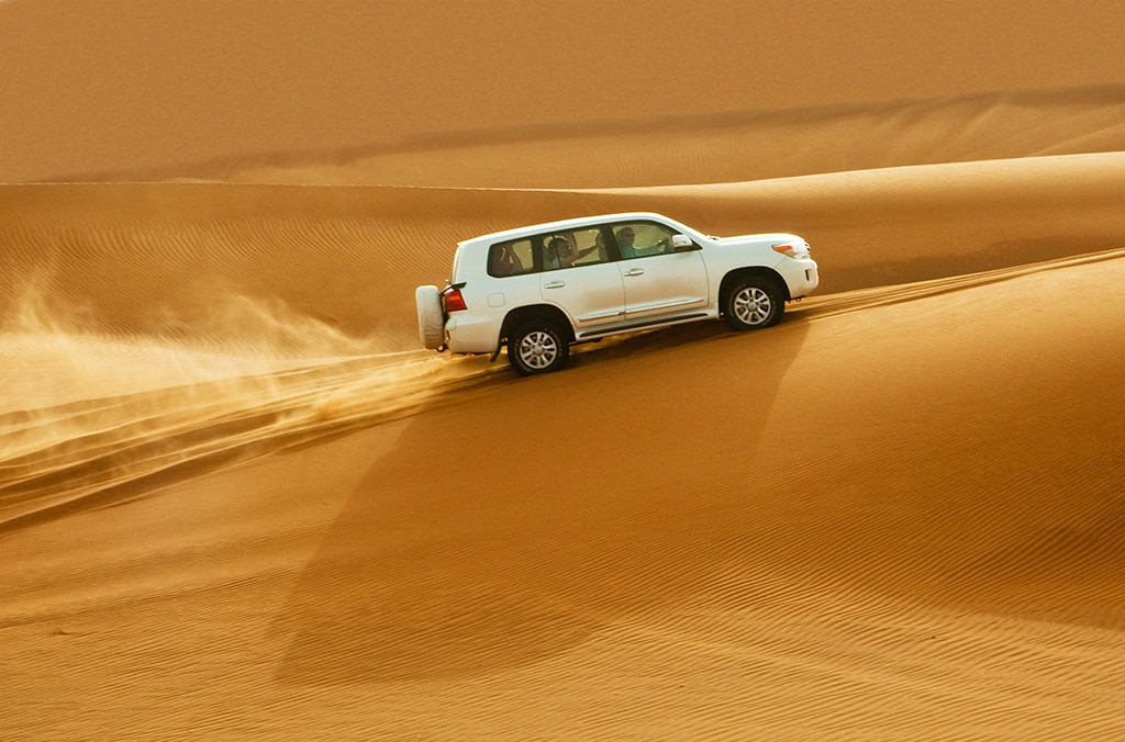 Exploring the desert in Abu Dhabi